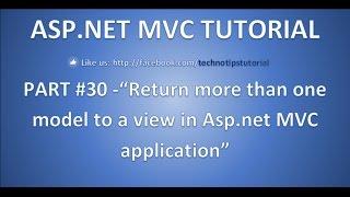 كيفية العودة نماذج متعددة إلى طريقة عرض في asp.net mvc   سؤال في مقابلة - الجزء 30
