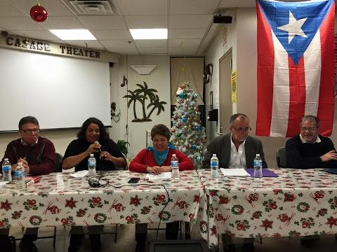 """A Call to Action on Puerto Rico"" Forum at Casabe Houses in East Harlem"