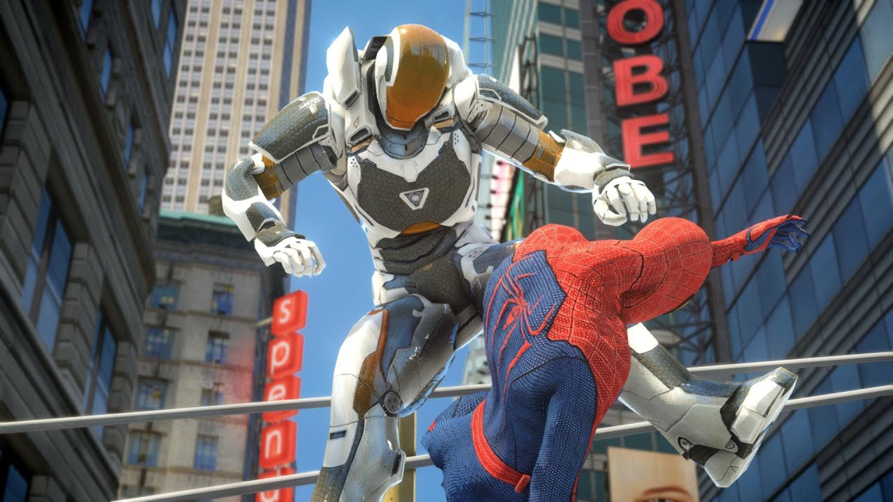 Amazing Spider Man Vs Iron Man Epic Battle Grand Theft