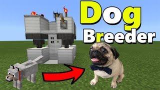 DOG BREEDER MACHINE TUTORIAL | Minecraft PE (Pocket Edition) The Pug Addon