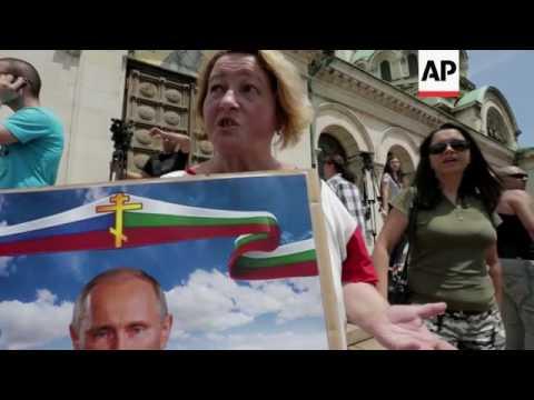 Tension as Russia motor bikers arrive in Bulgaria