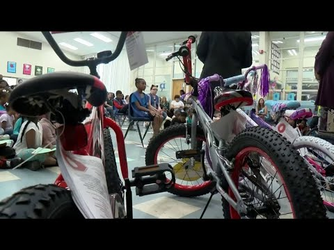 Lynchburg elementary school students go home with new rides