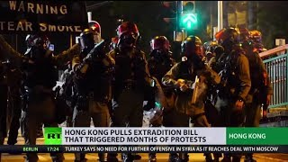 Controversial Hong Kong extradition bill officially withdrawn