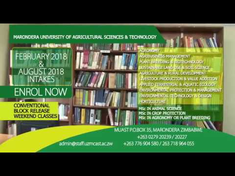 Marondera University of Agricultural Sciences And Technology   2018 Enrollment