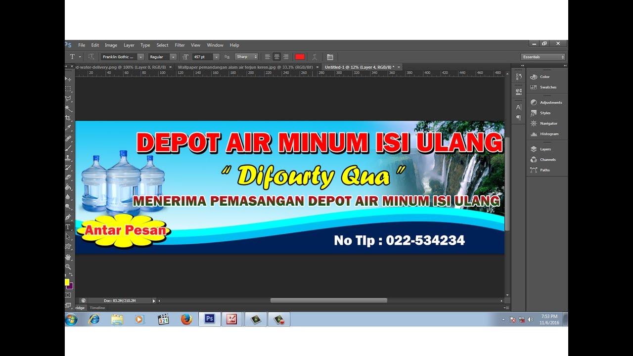 Contoh Brosur Air Minum Isi Ulang - Barisan Contoh