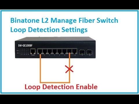 Binatone GE1008F Gigabit Fiber Switch Loop Detection Settings