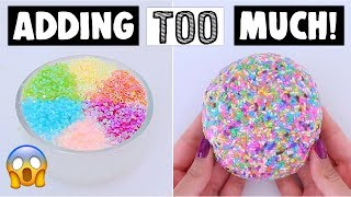 EXTREME ADDING TOO MUCH INGREDIENTS INTO SLIME *adding too much of everything into SLIME*