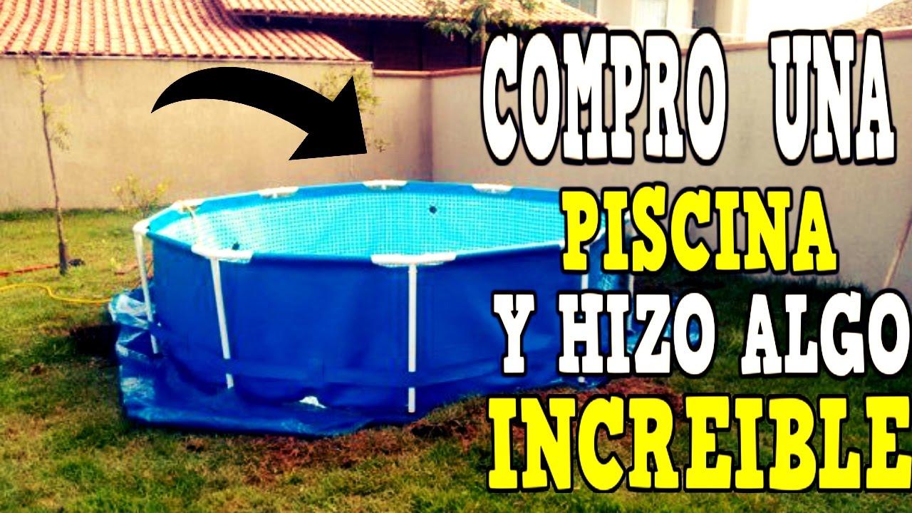 Este hombre no pod a tener su propia piscina en casa pero for Piani del cortile con piscine