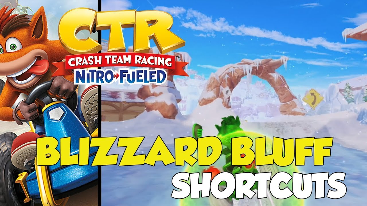 Crash Team Racing: Nitro-Fueled Blizzard Bluff Shortcut Locations (Winter  Time Off-Roading Trophy)