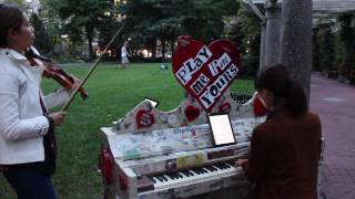 "duo526 MiPS ""Mozart in Public Spaces"": Sonata K. 547 (Boston)"