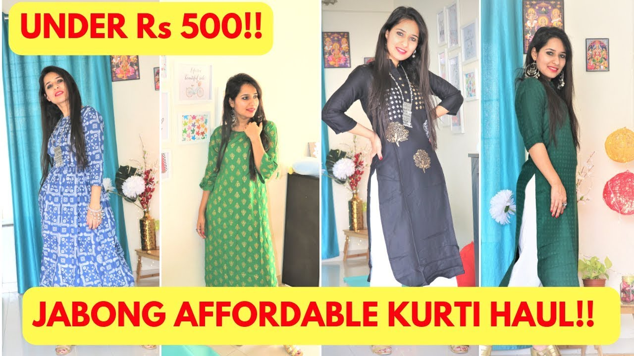 dbd2c634adc AFFORDABLE JABONG KURTI HAUL FOR DAILY WEAR OFFICE UNDER Rs 500 ...