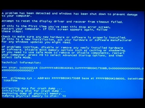 Blue screen error atikmpag.sys/atikmdag.sys Complete FIX