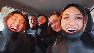 SHOP MY NEW HOODIES! http://hannahmelocheshop.com just an average day at school surfing in 30 degree weather!!! main channel: ...