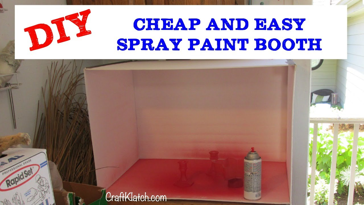Spray Paint Craft Ideas Part - 29: How To Make A Spray Paint Booth DIY CHEAP!! Craft Klatch - YouTube