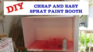 How To Make A Spray Paint Booth Diy Cheap!! Craft Klatch