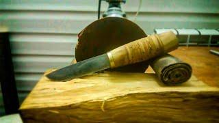 легче просто НЕТ!Нож своими руками БЕЗ КОВКИ!DIY