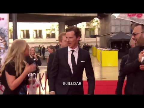 Benedict Cumberbatch on the red carpet of BAFTA 2017