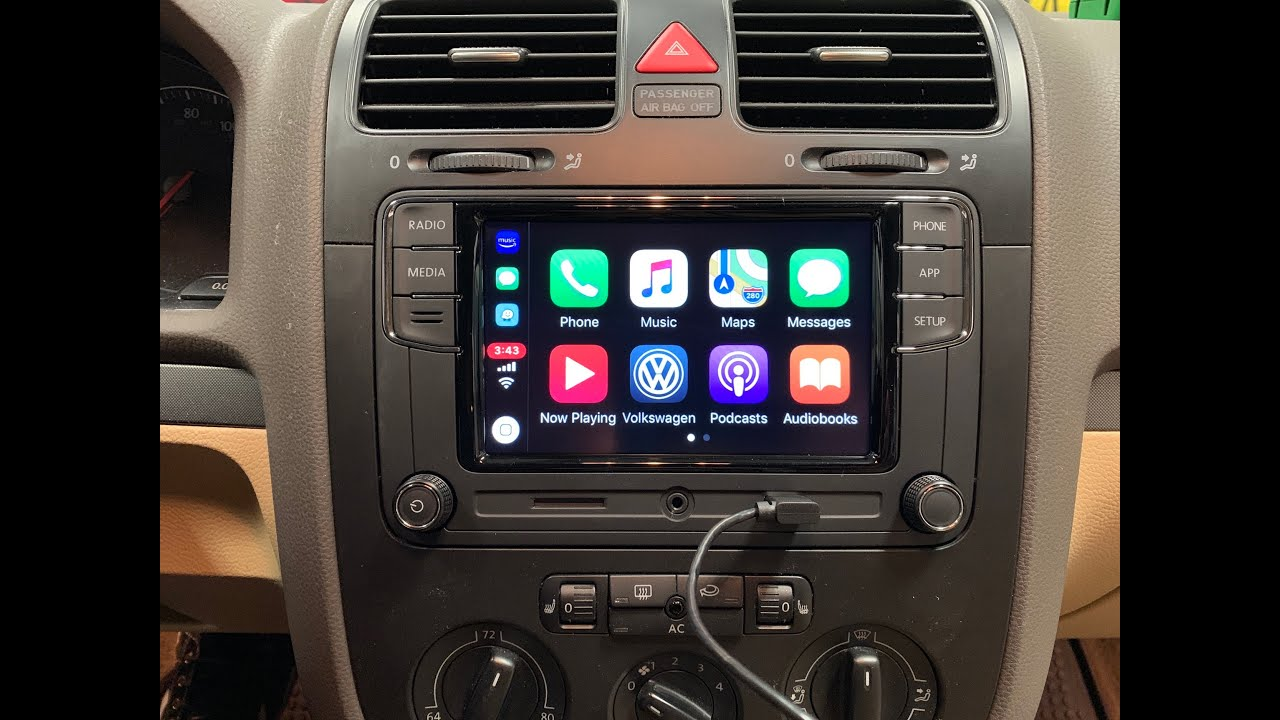 futrell autowerks vw rcd 330 g demo updated stereo headunit mk5 mk6 adds car play bluetooth. Black Bedroom Furniture Sets. Home Design Ideas