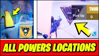 *NEW* Thor's Mjolnir STRIKE Gameplay & ALL POWERS LOCATIONS, Iron Man's Repulsors (Fortnite)