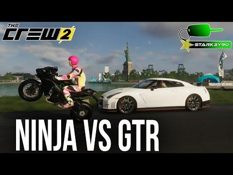 The Crew 2 - Ninja H2 vs Nissan GTR | JAPANESE SUPERBIKE VS SUPERCAR