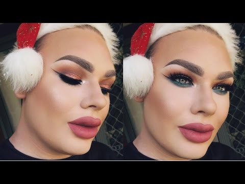 LAST MINUTE Full Glam Holiday Makeup Tutorial | Michael Finch
