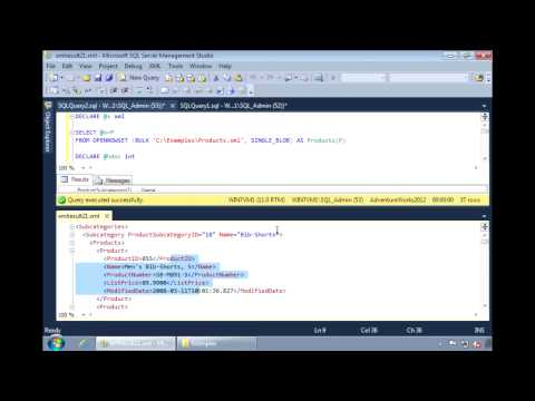 SQL Server 2012 - Loading XML Documents