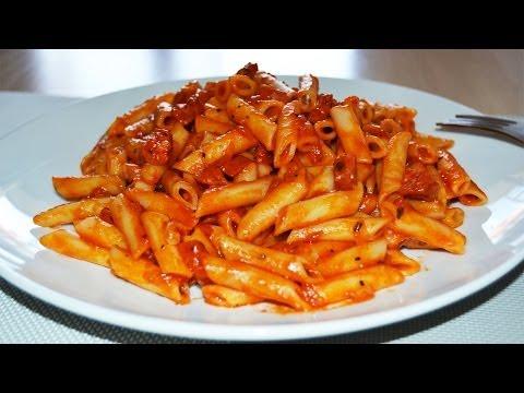 Pasta in Chorizo & Tomato Sauce - Easy Tomato Chorizo Pasta Recipe