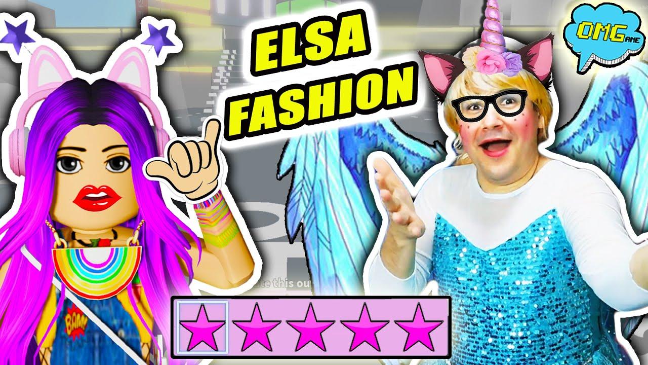 ELSA en FASHION FAMOUS de Roblox 💄 Desfile de moda con ElsaOMGame 👗