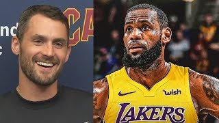 Kevin Love Explains Signing Cavaliers Extension and Reacts To LeBron James Leaving Cleveland!