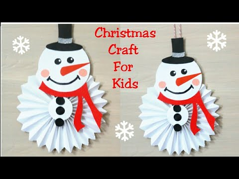 DIY Christmas Ornaments| Paper snowman| Christmas Paper Craft for kids| Christmas decoration ideas