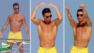 Shirtless Cristiano Ronaldo Dancing on a Yacht
