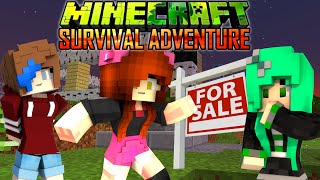 MINECRAFT SURVIVAL ADVENTURE EP20 | OUR NEW NEIGHBOR ROLEPLAY | DOLLASTIC, SALLY & AUDREY