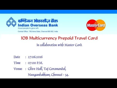 iob multicurrency prepaid travel card - Mastercard Prepaid Travel Card