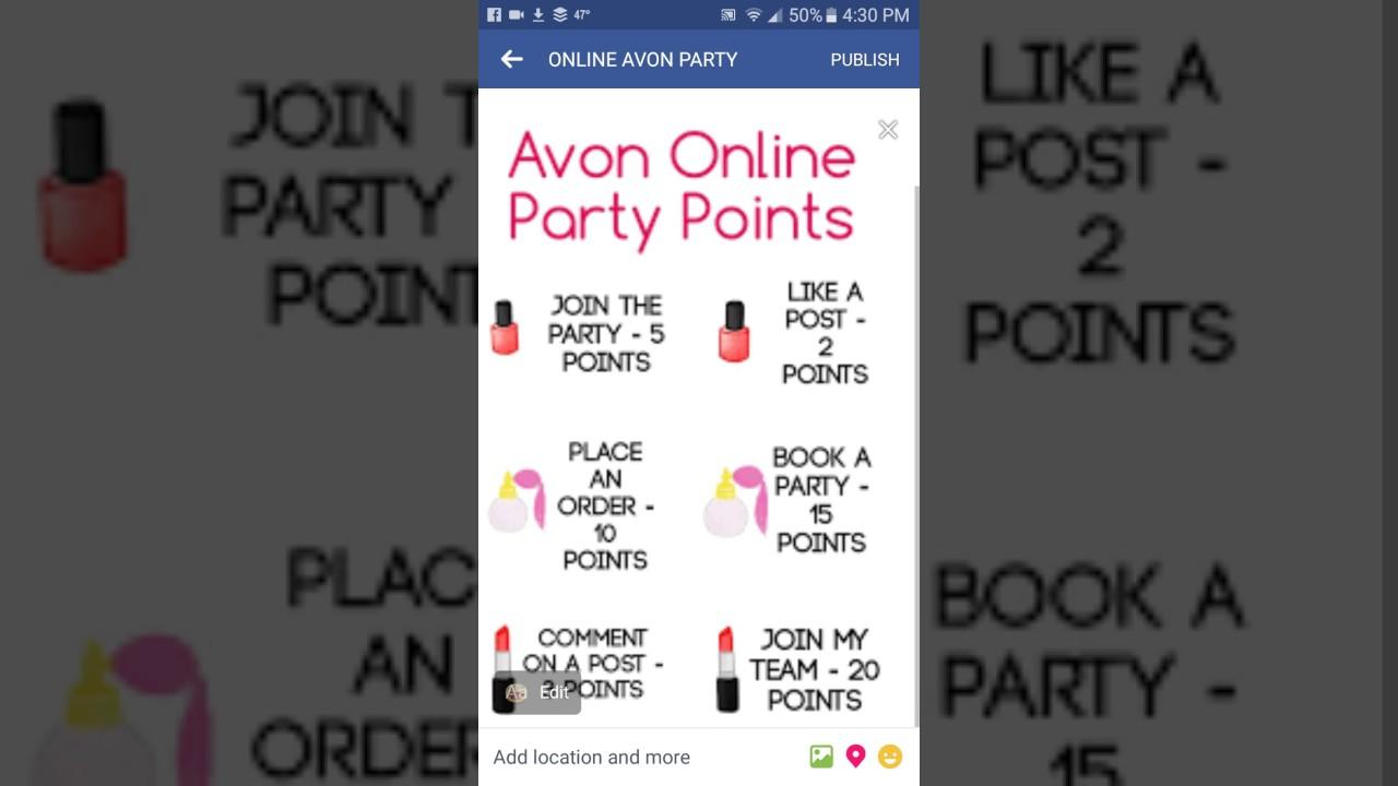 Avon ONLINE facebook party - YouTube
