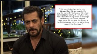 Salman Khan's ANGRY REACTION on FAKE reports of casting for a movie by his production house