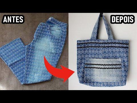Transforme Calça Jeans Em Bolsa