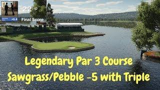 Legendary Par 3 Course Gameplay - The Golf Club 2 - Pebble/Sawgrass/Augusta (PC)