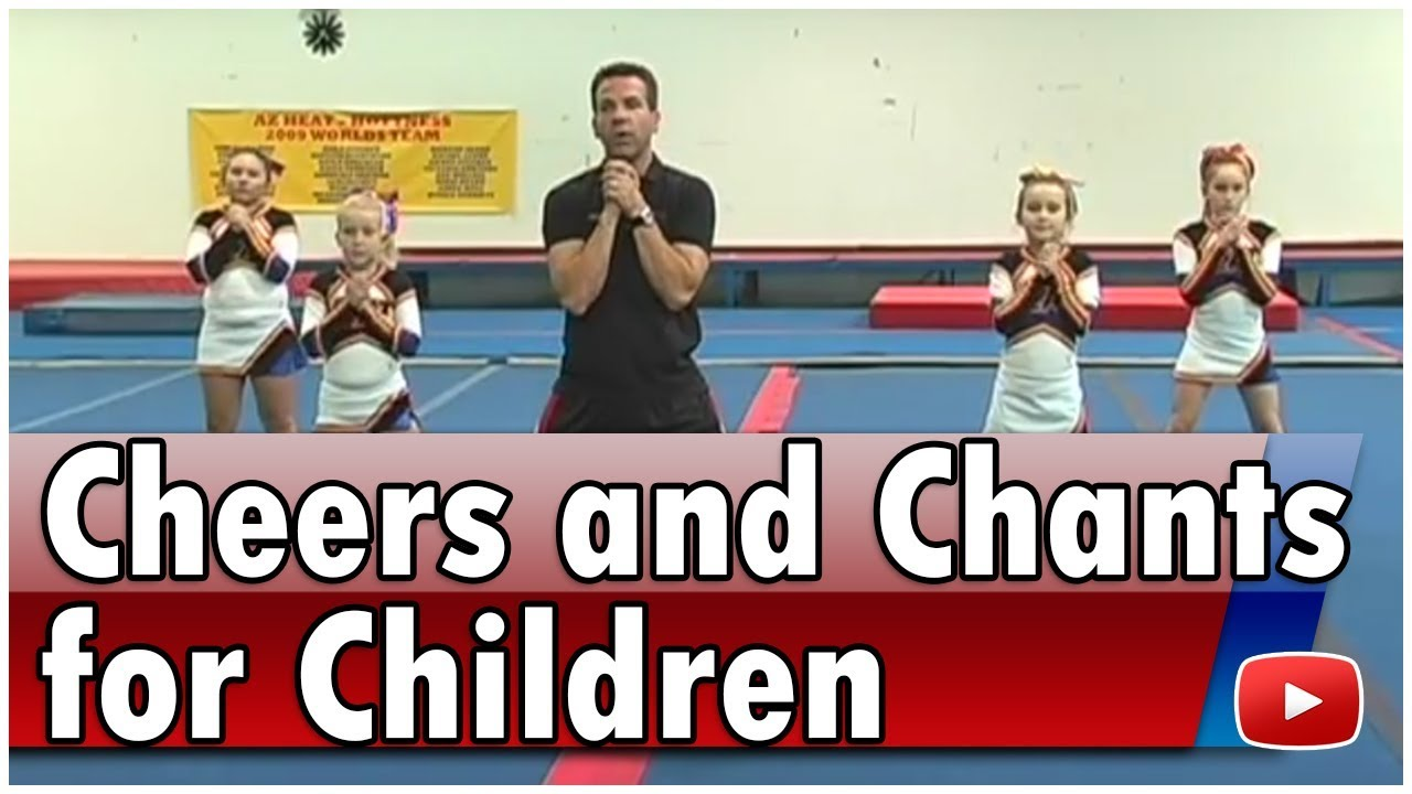Cheerleading for children cheers and chants coach jason.