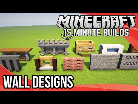 Minecraft 15-Minute Builds: Wall Designs