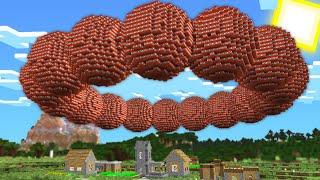 НАД МОЕЙ ДЕРЕВНЕЙ ПОЯВИЛСЯ ОГРОМНЫЙ КРУГ ИЗ ДИНАМИТА ТНТ В МАЙНКРАФТ 100 Троллинг Ловушка Minecraft