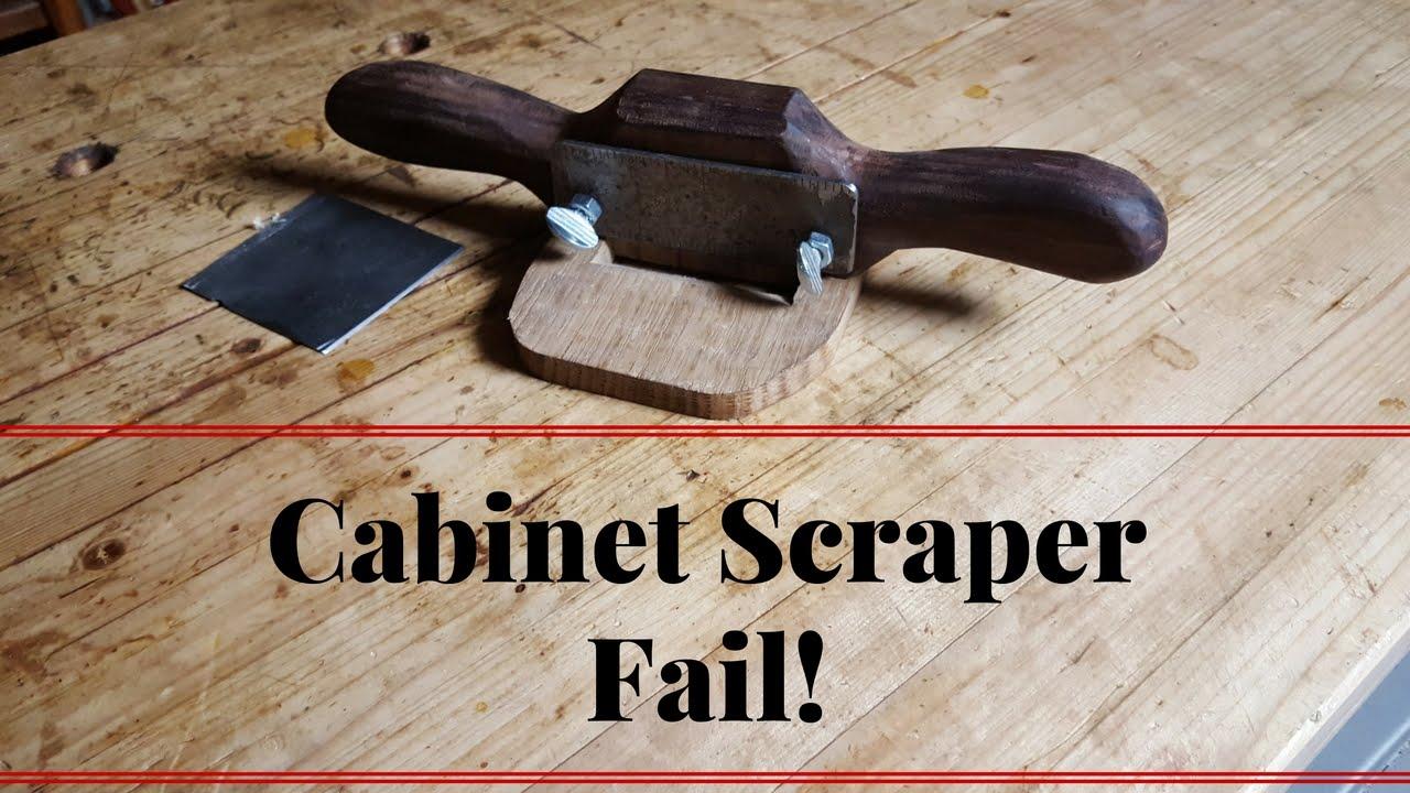 Making Cabinet Scraper Like Stanley Shopmade Fail