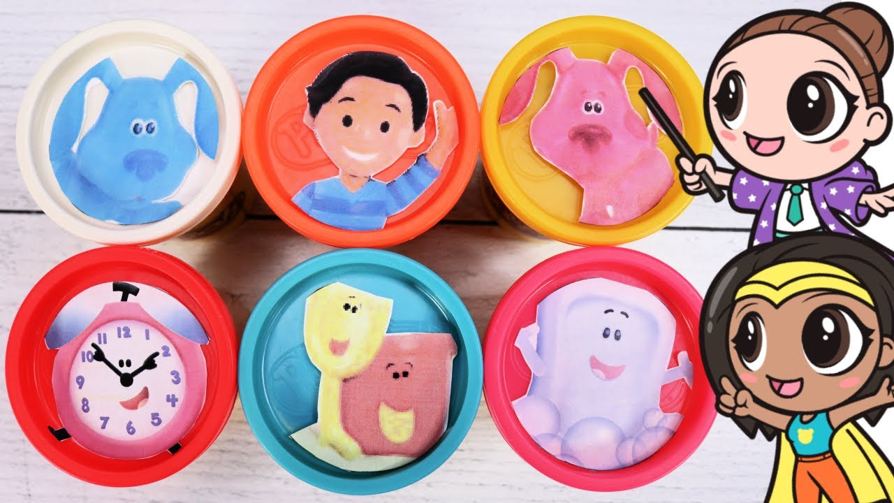 Download BLUE'S CLUES and YOU Play doh Toy Surprises with Josh & Magenta