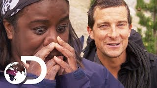 Two Wild Mice For Dinner With Uzo Aduba  Running Wild With Bear Grylls