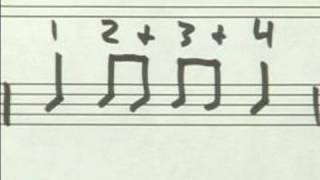 Learning To Read Drum Music 2 : 1/8 Note Drumming Exercise 3