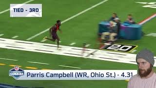 Rugby Player Reacts to The 2019 NFL Combine FASTEST & SLOWEST 40 Yard Dashes!