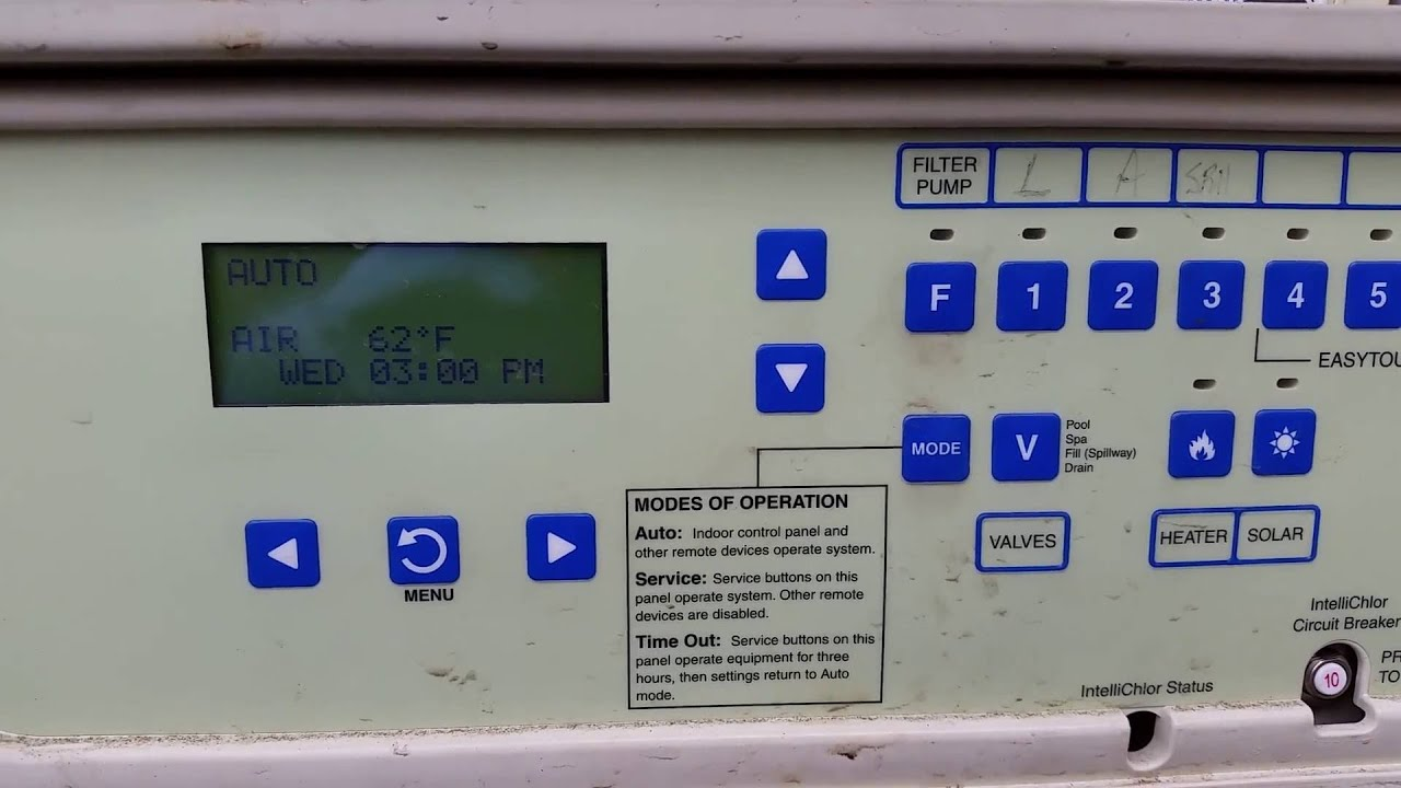 how to turn on the heater with a pentair easytouch technical pool repair [ 1280 x 720 Pixel ]