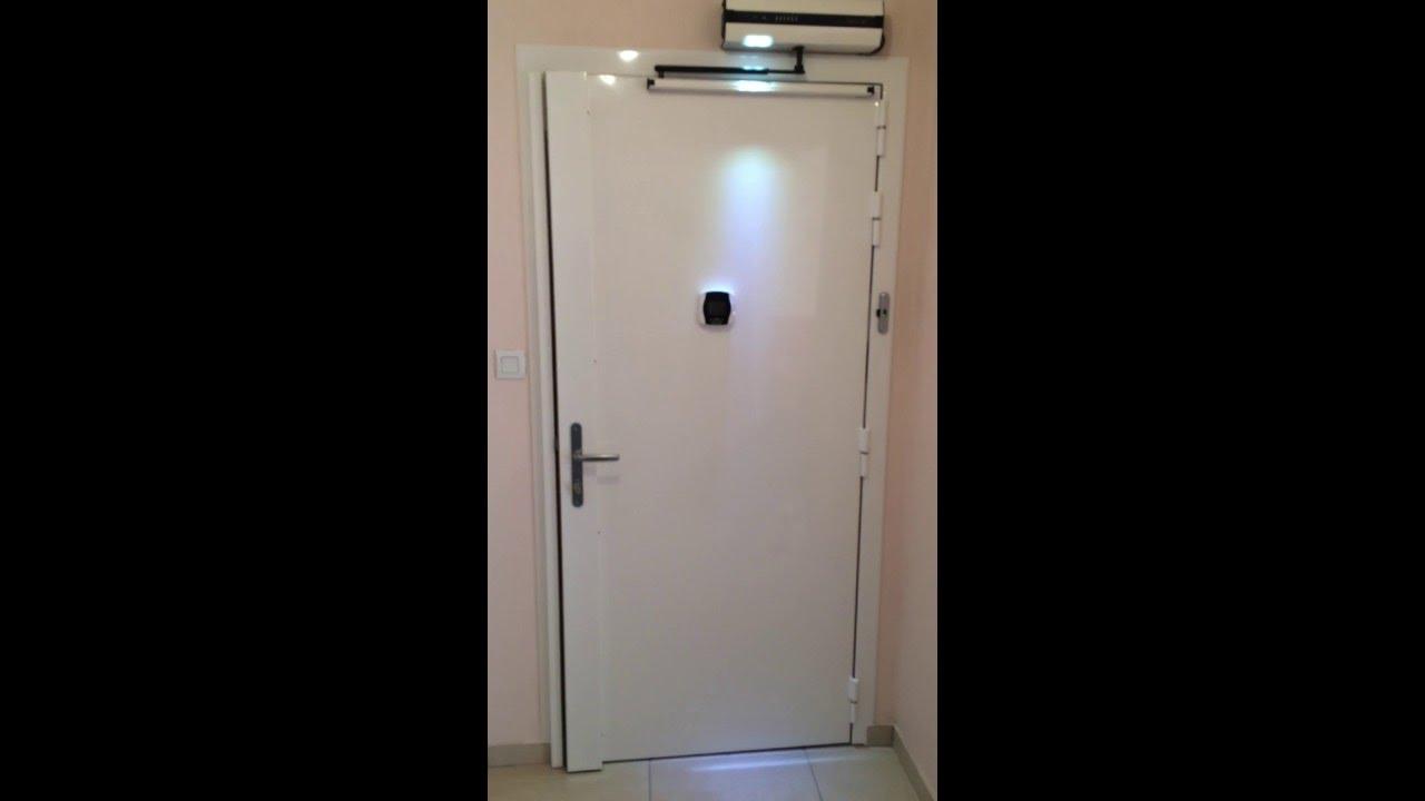 Porte Blindée Avec Automatisme Et Serrure électrique YouTube - Serrure porte blindée