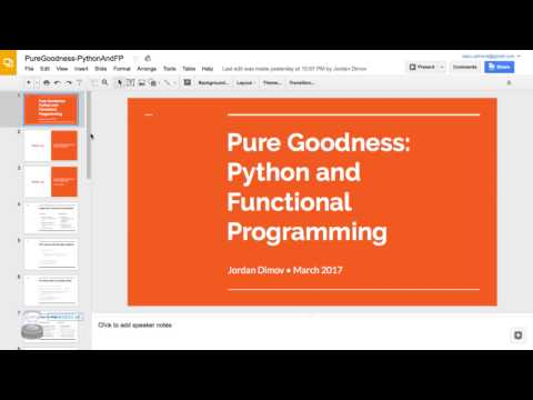 Pure Goodness: Python and Functional Programming