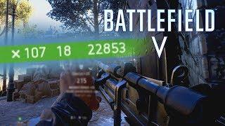 """Bren Gun + Medium Scope = OVERPOWERED"" 107キル - #BattlefieldV OpenBeta"