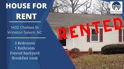 """""""Winston Salem Homes for Rent"""" 1402 Chelsea St Winston Salem NC **RENTED**"""